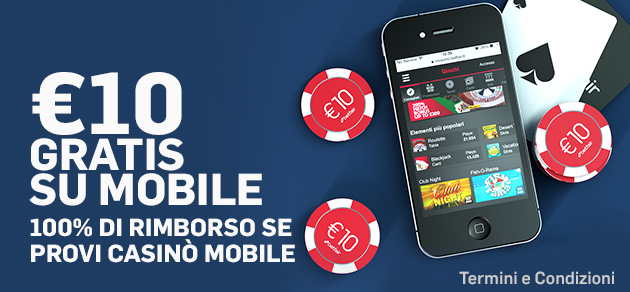 Betfair casinò mobile 10 euro gratis