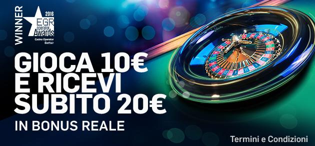 Bonus Reale Betfair Casino